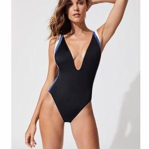 Other - Solid and Stripe Zoe plunge neckline swimsuit